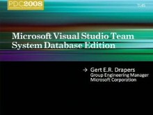 Microsoft Visual Studio Team System Database Edition: Overview