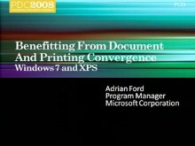 Windows 7: Benefiting from Documents and Printing Convergence