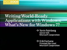 Windows 7: Writing World-Ready Applications