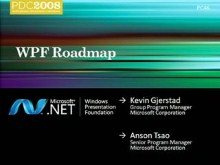 WPF Roadmap