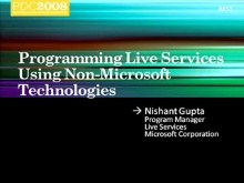 Live Services: Programming Live Services Using Non-Microsoft Technologies