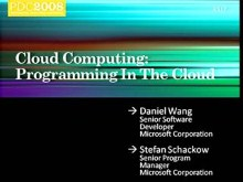 Windows Azure: Programming in the Cloud