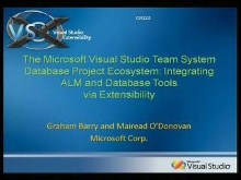 The Microsoft Visual Studio Team System Database Project Ecosystem: Integrating ALM and Database Tools via Extensibility
