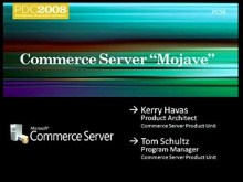 "Commerce Server ""Mojave"": Overview"