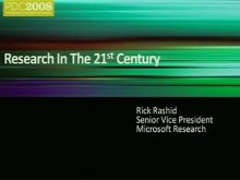 Research in the 21st Century