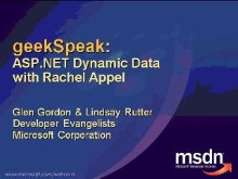 geekSpeak recording - ASP.NET Dynamic Data with Rachel Appel