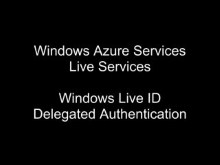 Windows Live ID Delegated Authentication