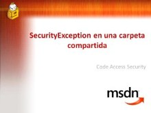 SecurityException en una carpeta compartida