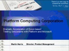 Dramatic Acceleration of Excel-based Trading Simulations with Platform and Microsoft