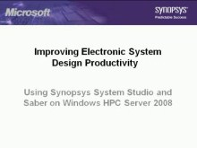 Improving Electronic System Design Productivity using Synopsys System Studio