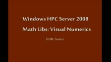 SC08: Windows HPC: Math Libs - Visual Numerics (VNI)
