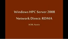 SC08: Windows HPC: High Speed Interconnect