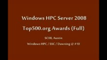 SC08: Windows HPC: SC08 Top500 Awards Ceremony (long version)