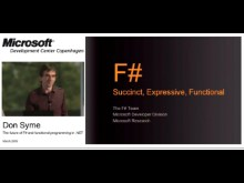 Don Syme: F# and functional programming in . NET