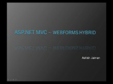 ASP.NET MVC WebForms Hybrid application