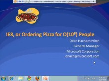 IE8, or Ordering Pizza for O(10^8) People