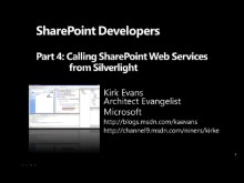SharePoint for Developers Part 4 - Calling SharePoint Web Services from Silverlight