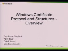 Windows Certificate Protocols Overview