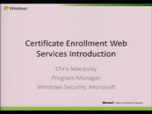 Certificate Enrollment Web Services Introduction