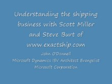 Interview and demonstration with ExactShip and Dynamics CRM