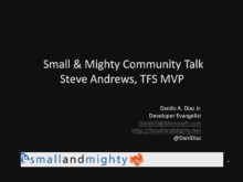 Small and Mighty - Community Talk with Steve Andrews