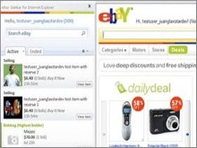 eBay sidebar for Internet Explorer 8 uses Silverlight