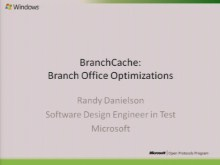 Peer Content (Branch) Caching and Retrieval Presentation