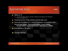 Tool Shed Tooltip #3: SysInternals from Episode 1