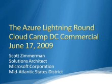 Azure Service Platform - Lightning Round at Cloud Camp DC