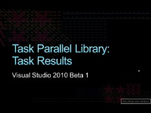 Task Parallel Library: Task Results