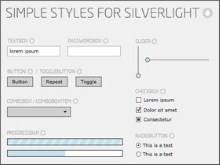 Simple Styles for Silverlight - starting point for designing controls