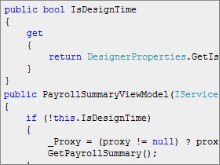 Making Silverlight Code More Compatible with Blend using IsDesignTime