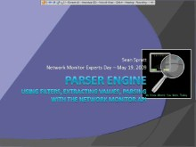 Microsoft Network Monitor Experts Day: Part 4 - Parser Engine