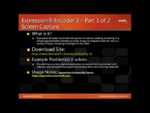 Tool Shed Tooltip #23 - Expression Encoder 3 (Part 1 of 2) - Overview and Screen Capture