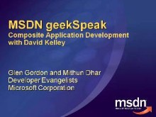 geekSpeak Recording - Composite Application Development with David Kelley