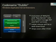 "Codename ""Dublin"": Windows Application Server"