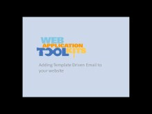 Web Application Toolkit: Template-Driven Emails