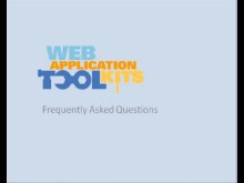 Web Application Toolkits: FAQ