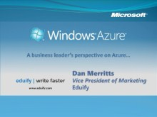 Eduify Head of Marketing Speaks About Choosing Azure