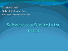 ARCast.TV Special - Michael Stiefel on Software as a Service in the Cloud