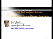 Building PHP simple database applications for SQL Server, Windows Azure Storage and SQL Azure