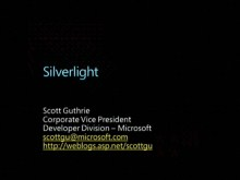 Silverlight FireStarter (Part 2 of 9): Keynote