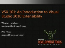 VSX101: An Introduction to Visual Studio 2010 Extensibility