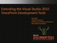 VSX108: Visual Studio 2010 SharePoint Development Tools
