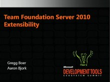 VSX207: VSTS 2010 TFS Work Items, Process Templates and Reporting Extensibility
