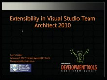 VSX208: Extensibility in Visual Studio Team Architect 2010