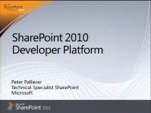 MSDN Briefing November 2009 - Office SharePoint Server 2010 Development