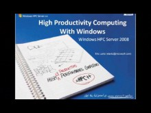 Windows HPCS 2008R2 Beta1: Performance Analysis and Diagnostics