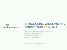 Introducing Windows HPC Server 2008R2 Beta1