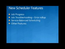 Windows HPCS 2008R2 Beta1:Scheduler Features